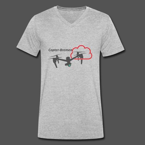 Multicopter - Männer Bio-T-Shirt mit V-Ausschnitt von Stanley & Stella