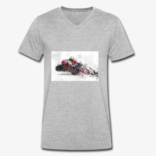 Motorradrennen. Das Geschenk für Motorradfans - Männer Bio-T-Shirt mit V-Ausschnitt von Stanley & Stella