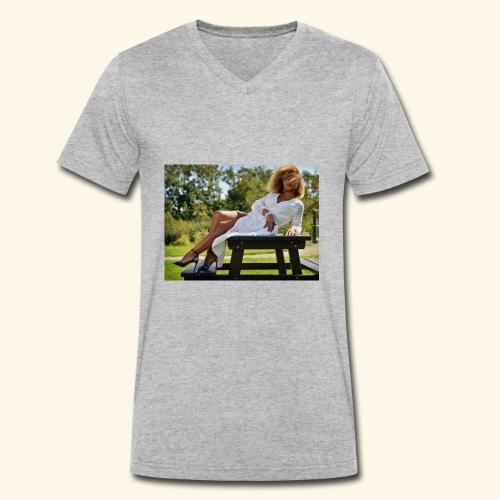 een foto van me mooie foto in Den Haag - Mannen bio T-shirt met V-hals van Stanley & Stella