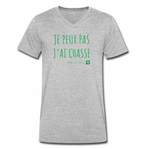 Chasseur et fier. - T-shirt bio col V Stanley & Stella Homme