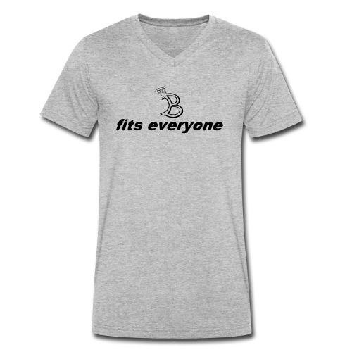 fits eveyone mit b - Männer Bio-T-Shirt mit V-Ausschnitt von Stanley & Stella