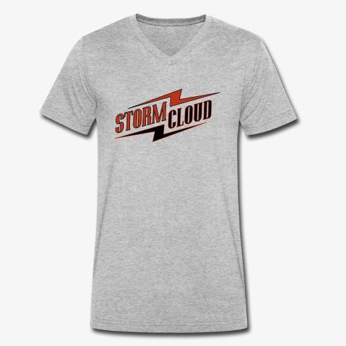 stormcloud logo print - Männer Bio-T-Shirt mit V-Ausschnitt von Stanley & Stella