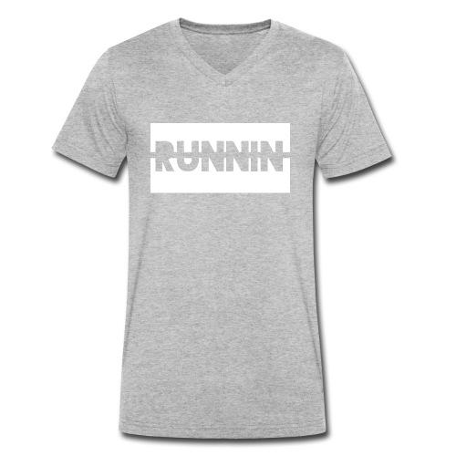 Runnin '| Exclusive - Men's Organic V-Neck T-Shirt by Stanley & Stella