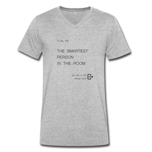 Smartest person in the room - Men's Organic V-Neck T-Shirt by Stanley & Stella