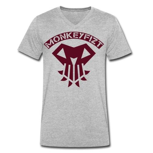 MonkeyFizt Logo - Männer Bio-T-Shirt mit V-Ausschnitt von Stanley & Stella