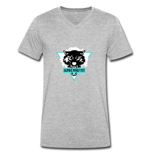 Black logo - Men's Organic V-Neck T-Shirt by Stanley & Stella