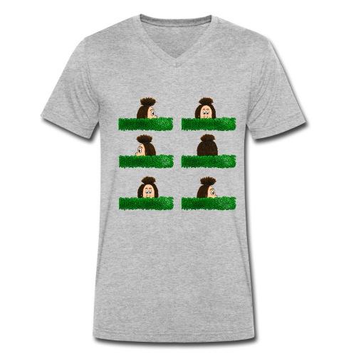 Uffi im Labyrinth - Männer Bio-T-Shirt mit V-Ausschnitt von Stanley & Stella