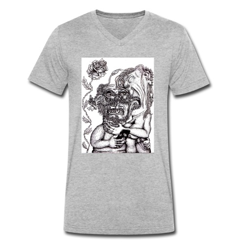 Piercat par - Ekologisk T-shirt med V-ringning herr från Stanley & Stella