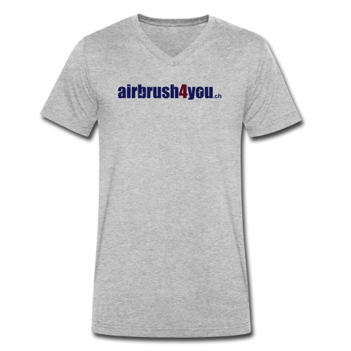 Airbrush4You.ch Airbrush Switzerland - Männer Bio-T-Shirt mit V-Ausschnitt von Stanley & Stella