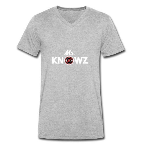 Mr Knowz merchandise_v1 - Men's Organic V-Neck T-Shirt by Stanley & Stella