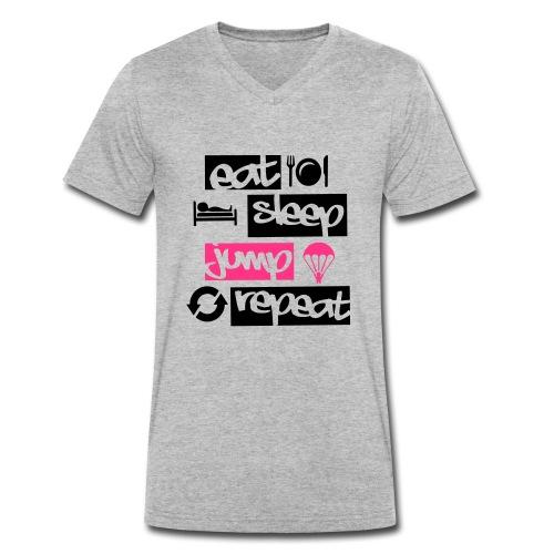 Eat Sleep Jump Repeat - Männer Bio-T-Shirt mit V-Ausschnitt von Stanley & Stella