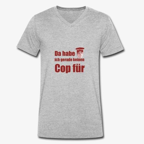 Polizeitshirt keinen cop fuer red - Männer Bio-T-Shirt mit V-Ausschnitt von Stanley & Stella
