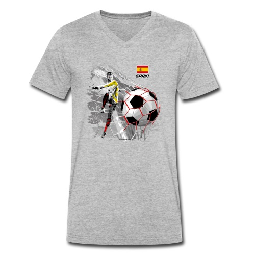 GP22F-02 SPAIN FOOTBALL PRODUCTS - Espanya fútbol - Stanley & Stellan naisten luomupikeepaita