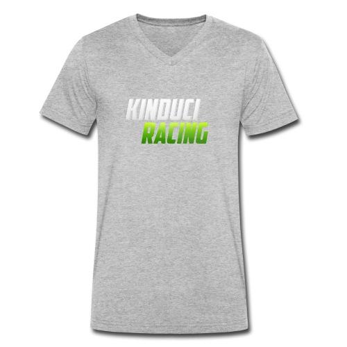 kinduci racing logo - Men's Organic V-Neck T-Shirt by Stanley & Stella