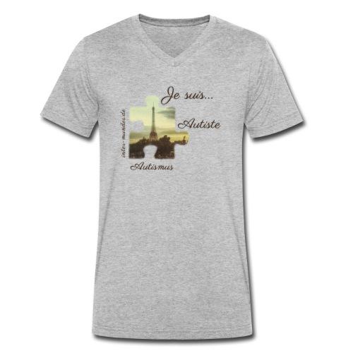 Je suis Autiste - Männer Bio-T-Shirt mit V-Ausschnitt von Stanley & Stella