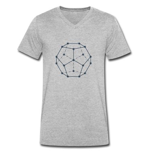 Dodecaedro, Geometria Sacra - T-shirt ecologica da uomo con scollo a V di Stanley & Stella