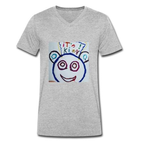 de panda beer - Mannen bio T-shirt met V-hals van Stanley & Stella