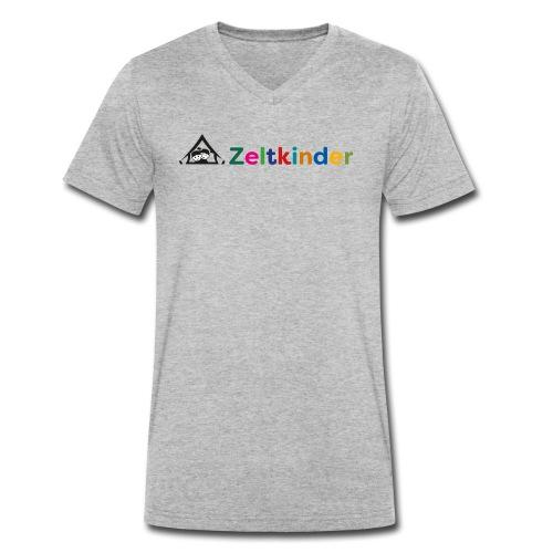 Zeltkinder - Männer Bio-T-Shirt mit V-Ausschnitt von Stanley & Stella