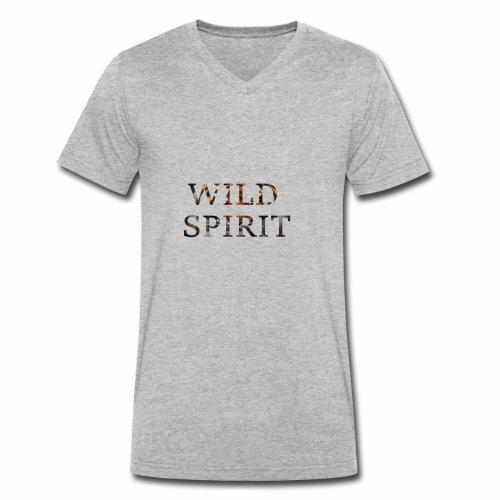 Wild Spirit - Men's Organic V-Neck T-Shirt by Stanley & Stella