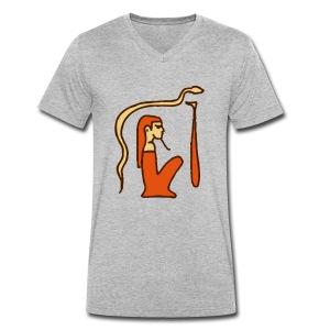 Hieroglyphen Dsched Medu - Männer Bio-T-Shirt mit V-Ausschnitt von Stanley & Stella