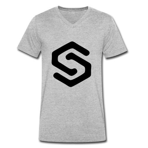 Simsonszene Sachsen S-LOGO schwarz - Männer Bio-T-Shirt mit V-Ausschnitt von Stanley & Stella
