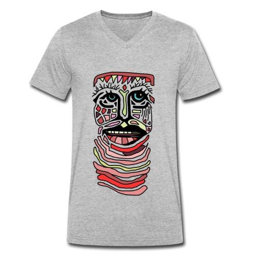 LONG NECK - Økologisk Stanley & Stella T-shirt med V-udskæring til herrer