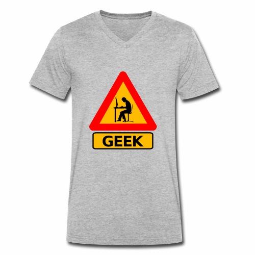 Geek - T-shirt bio col V Stanley & Stella Homme
