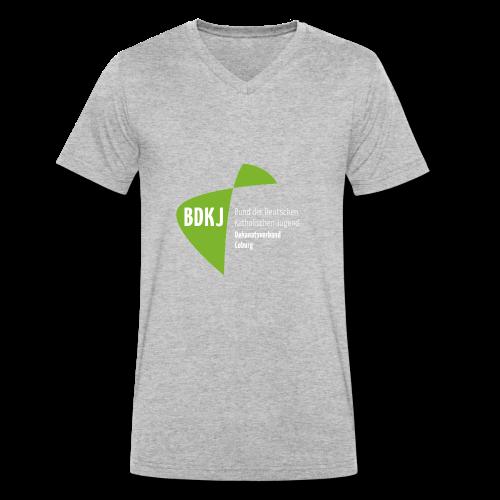 BDKJ Logo Transparenz - Männer Bio-T-Shirt mit V-Ausschnitt von Stanley & Stella