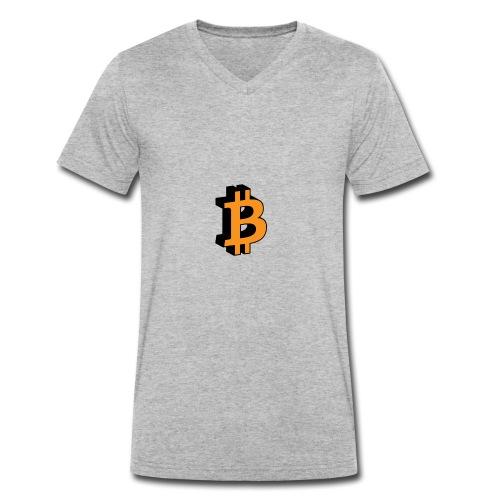 Bitcoin - Männer Bio-T-Shirt mit V-Ausschnitt von Stanley & Stella