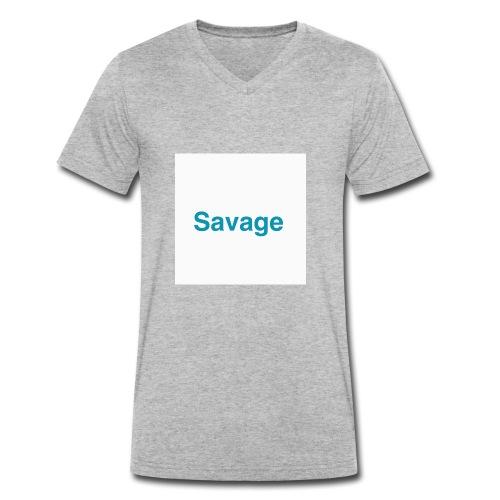 NEW EXLUSIVE SAVAGE MERCHANDICE - Men's Organic V-Neck T-Shirt by Stanley & Stella