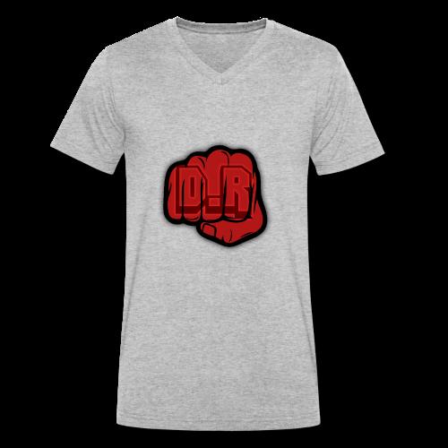 DigitalRelic Big Fist Logo - Ekologisk T-shirt med V-ringning herr från Stanley & Stella