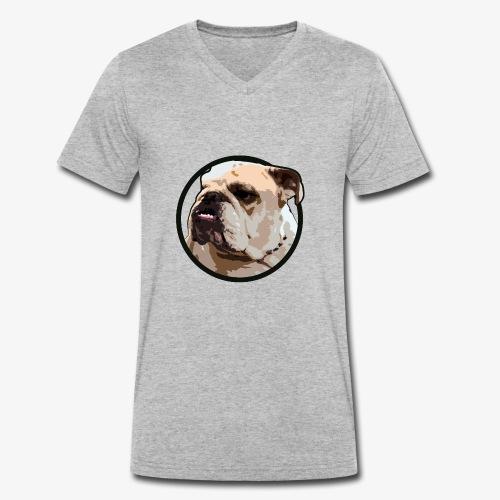 Bulldog - Men's Organic V-Neck T-Shirt by Stanley & Stella
