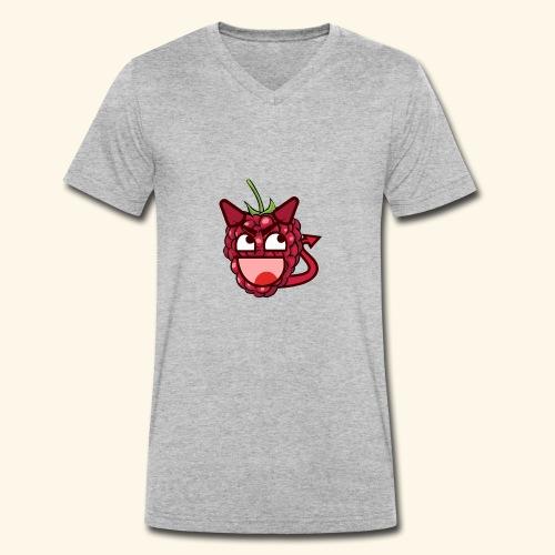 Devil Raspberry - Männer Bio-T-Shirt mit V-Ausschnitt von Stanley & Stella