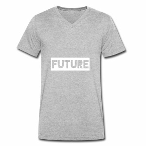 Future Clothing - Text Rectangle (White) - Men's Organic V-Neck T-Shirt by Stanley & Stella