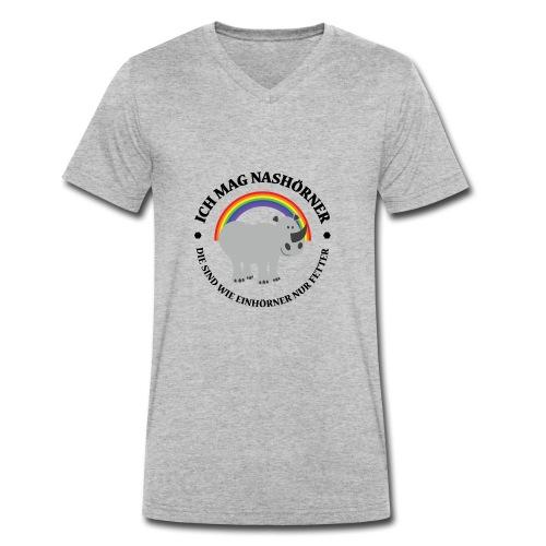 Ich mag Nashörner - Männer Bio-T-Shirt mit V-Ausschnitt von Stanley & Stella