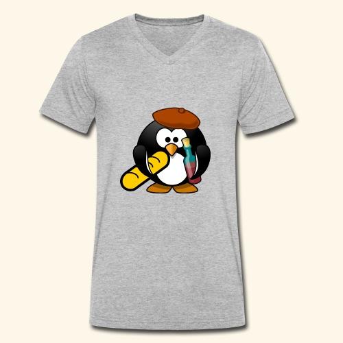 Französisch Baguette Pinguin Stereotyp - Männer Bio-T-Shirt mit V-Ausschnitt von Stanley & Stella