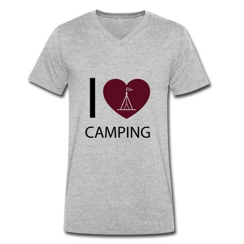 I love Camping - Männer Bio-T-Shirt mit V-Ausschnitt von Stanley & Stella