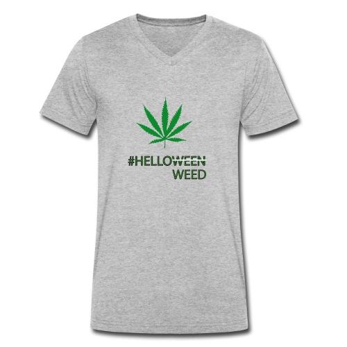 Helloween/weed Fun T-Shirt - Männer Bio-T-Shirt mit V-Ausschnitt von Stanley & Stella