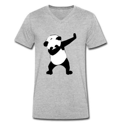 dab panda - Männer Bio-T-Shirt mit V-Ausschnitt von Stanley & Stella