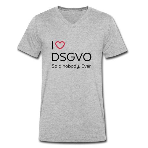 I love DSGVO (schwarz) - Männer Bio-T-Shirt mit V-Ausschnitt von Stanley & Stella