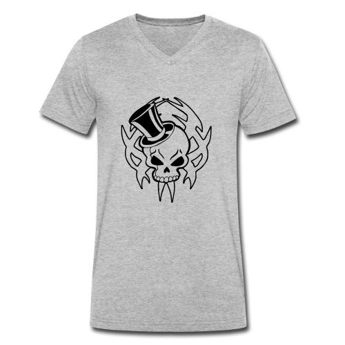 snazzy skull - Men's Organic V-Neck T-Shirt by Stanley & Stella