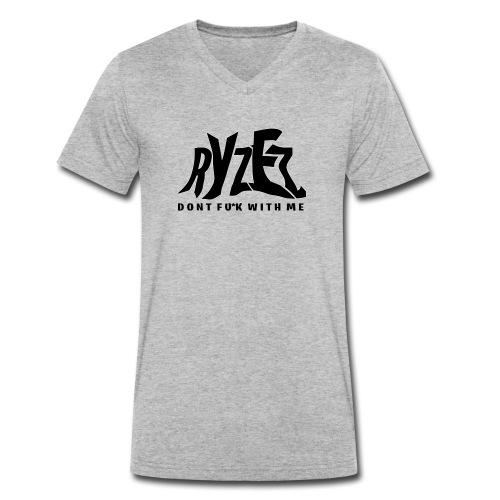 RyZez Black Logo - Männer Bio-T-Shirt mit V-Ausschnitt von Stanley & Stella