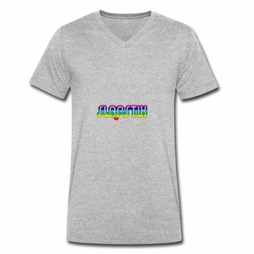 slapstix logo - Men's Organic V-Neck T-Shirt by Stanley & Stella