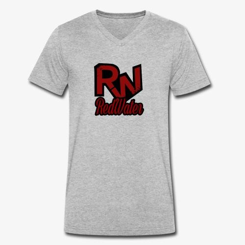 RedWater Logo mit Schriftzug - Männer Bio-T-Shirt mit V-Ausschnitt von Stanley & Stella