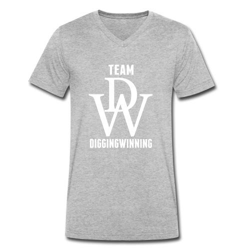 Team DiggingWinning - Men's Organic V-Neck T-Shirt by Stanley & Stella