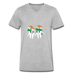 Funny Dentist St Patrick's Tooth Couple Design - Men's Organic V-Neck T-Shirt by Stanley & Stella