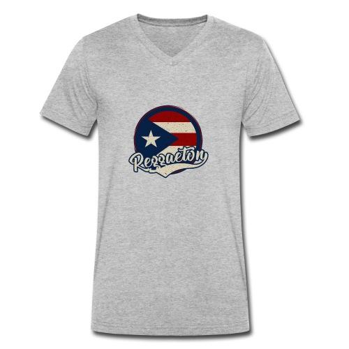 Reggaeton Music - Puerto Rico - Männer Bio-T-Shirt mit V-Ausschnitt von Stanley & Stella