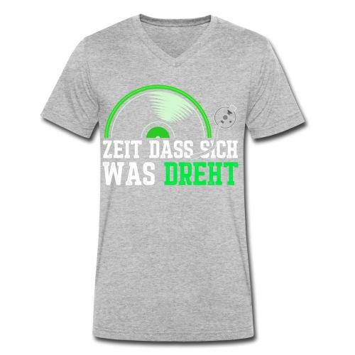 Zeit das sich was dreht - Retro Design - Männer Bio-T-Shirt mit V-Ausschnitt von Stanley & Stella