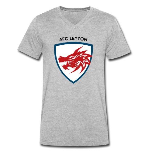 AFC Leyton Logo (Black) - Men's Organic V-Neck T-Shirt by Stanley & Stella