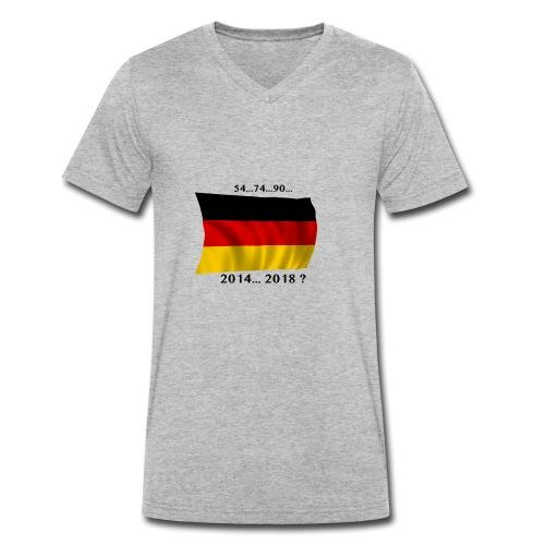 Deutschland Fussball WM Geschenkidee - Männer Bio-T-Shirt mit V-Ausschnitt von Stanley & Stella